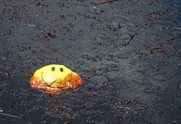 happyface balloon in oil-Witherington