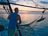 Shrimper pulling a net-DW