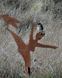 Dancing woman w bird126 photo by Katy Pye