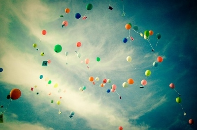 Balloons and ribbons--beautiful killers.