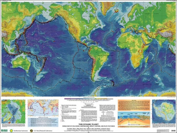 USGS techtonic map