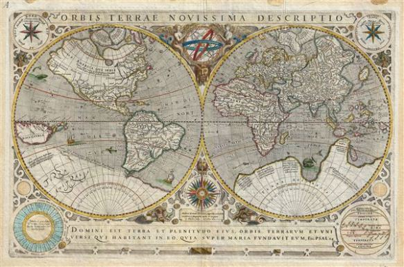 World Map 1633