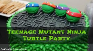 Teenage Mutant Ninja Turtle Party. Image: Onecreativehousewife.com