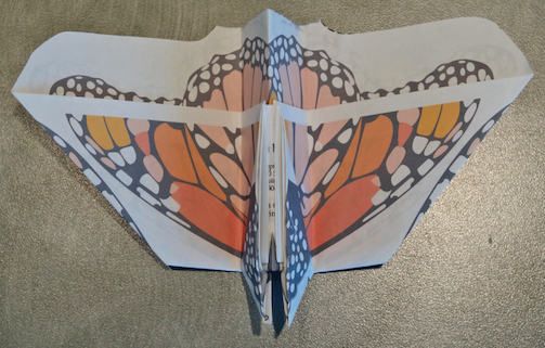 Monarch paper air plane underneath Katypye.com http://wp.me/p2dkY1-Nj