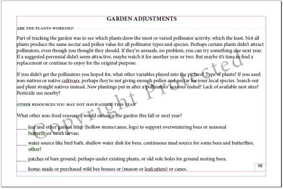 I Spy! Who's Using My Garden-Garden Adjustments