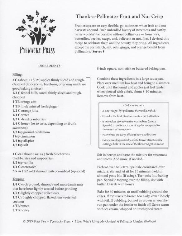 Pyewacky Press Crisp Recipe